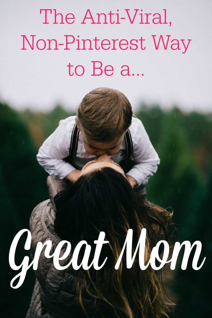 "Want to be a ""great mom""? The thing about humbly serving your family is you won't get applause from your peers. Washing dishes won't go ""viral."" But God sees you pouring out your life in service to your family."