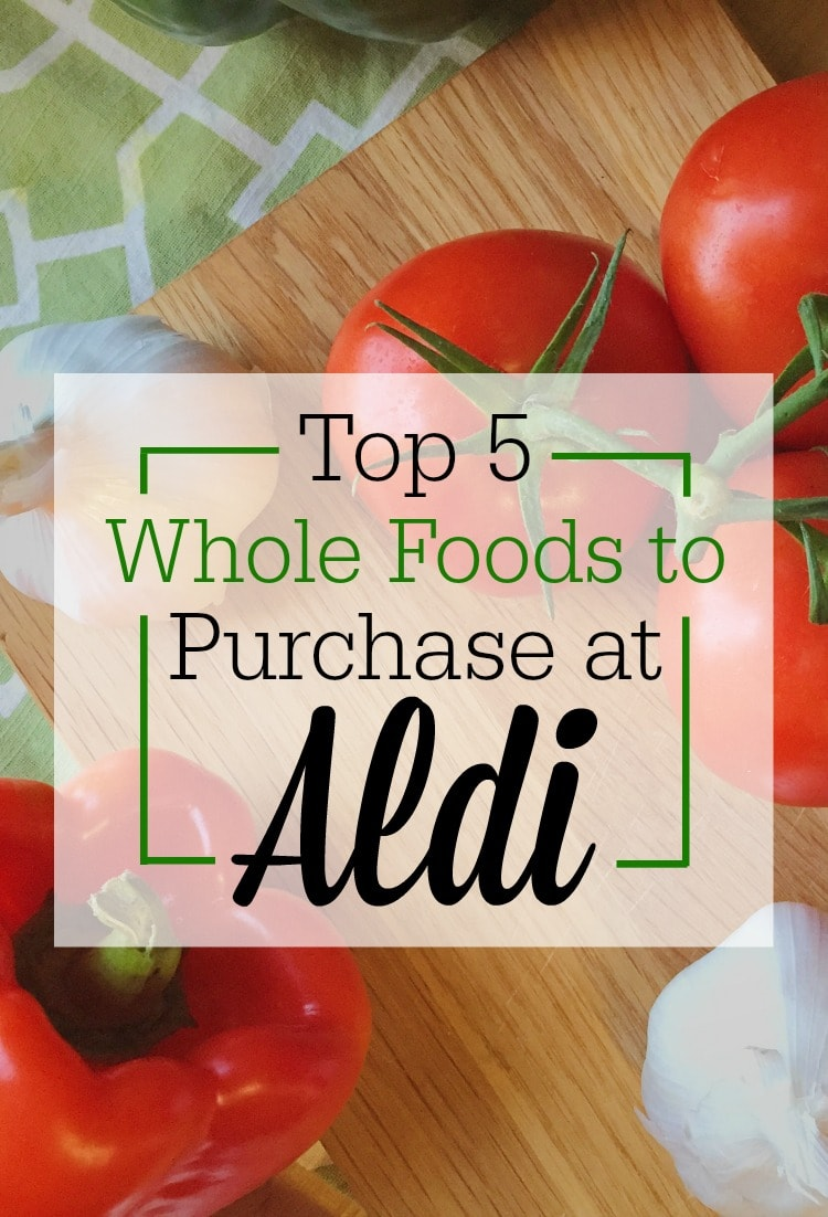 Shopping at ALDI has saved me so much money on real, whole foods! Here are the top 5 whole foods items you can find at ALDI grocery stores.
