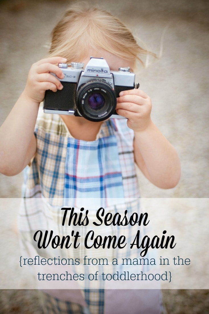 Life as a mama with young children can be so hard! But even when you're overwhelmed by the trenches of toddlerhood, remember to savor these fleeting years. This season is precious!