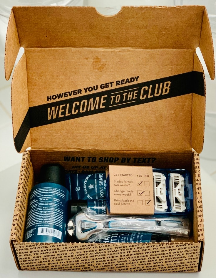unboxing Dollar Shave Club for a better cleaner shave