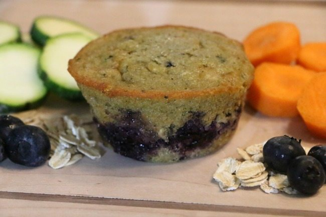 The yummiest way to eat more veggies the humbled homemaker - Garden lites blueberry oat muffins ...