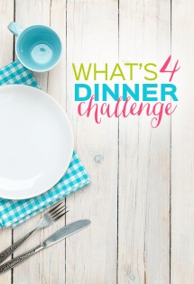 Are you out of meal planning ideas? Does planning dinners each week overwhelm you? The What's 4 Dinner Challenge might be what you need!