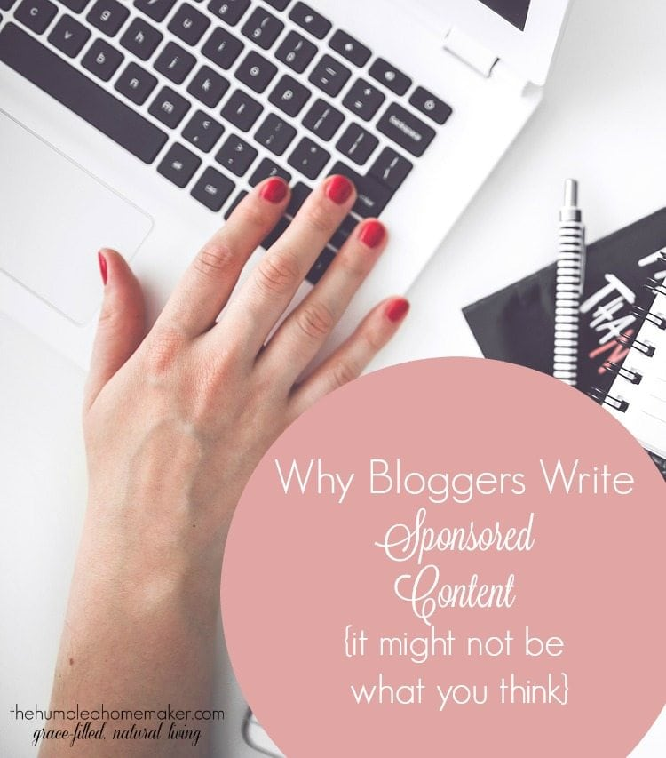 Writing sponsored content is one of several ways in which bloggers make money. But, for me personally, it's a win-win because of what that means for you, the reader.