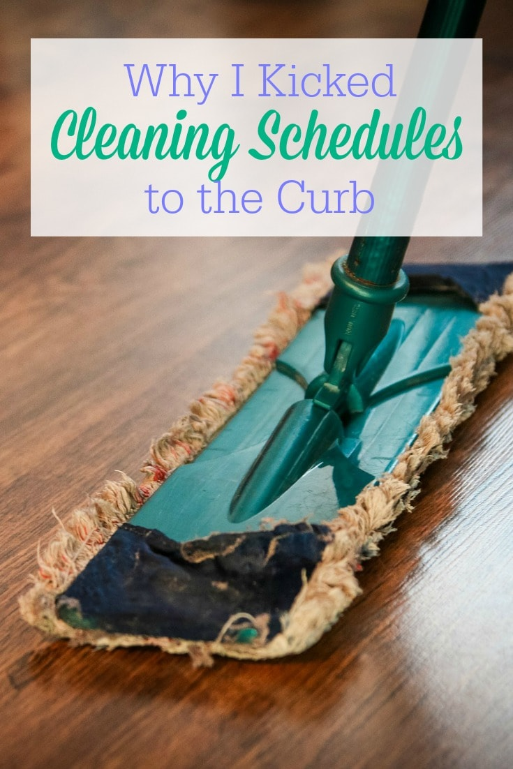 Cleaning schedules might not fit your personality! Here's why I stopped using a cleaning schedule, plus what I do to manage my housekeeping instead!