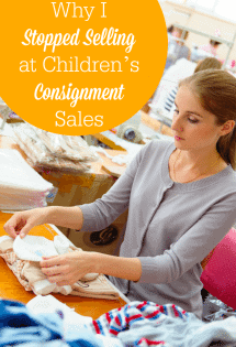 A must-read for moms stressed out with prepping clothes to sell at children's consignment sales! The stress might not be worth it!