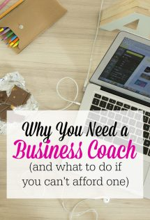 Hiring a business coach was one of the best investments in my work-at-home mom venture. Here's why you  might want to consider hiring a coach--and what to do if you can't afford one!