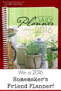 Win a 2016 Homemaker's Friend Planner!