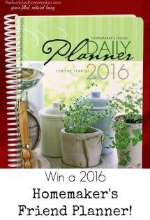 Win a 2016 Homemaker's Friend Planner!