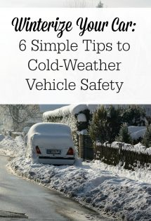 It's important to winterize your car--for both the safety of your family and to save money! Unprepared cars can break down, costing your family more than you bargained for! Check out these six simple tips to cold-weather vehicle safety!