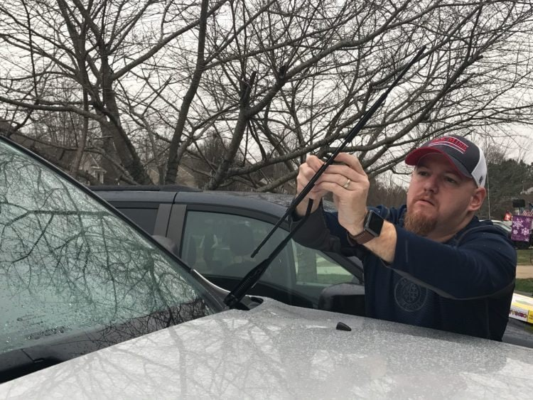 Change your windshield wipers to prepare for winter.