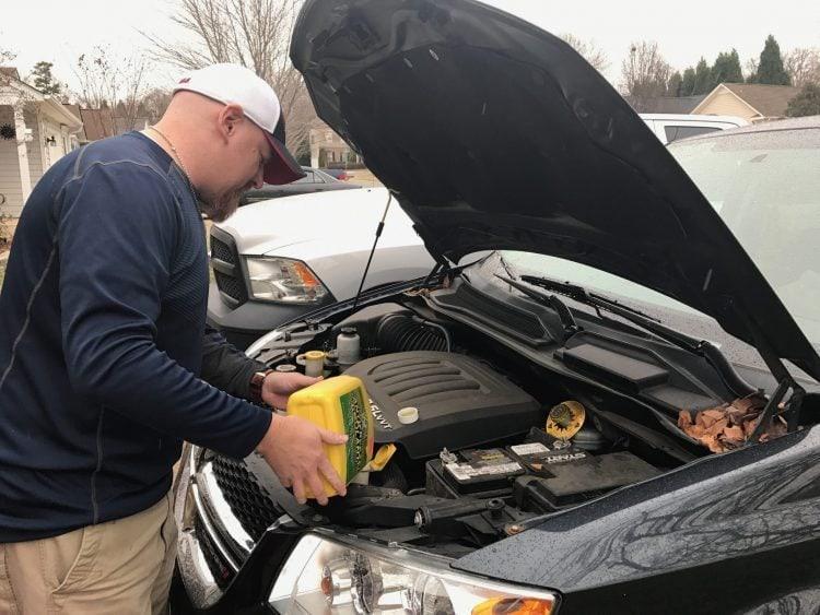 Add antifreeze to winterize your car.