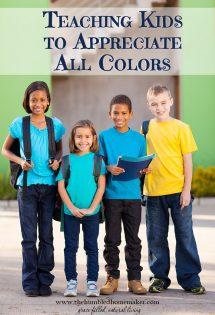 Teaching Kids to Appreciate All Colors