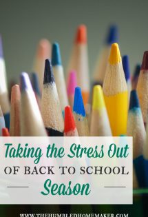 5 Steps for Taking the Stress Out of Back-to-School Season