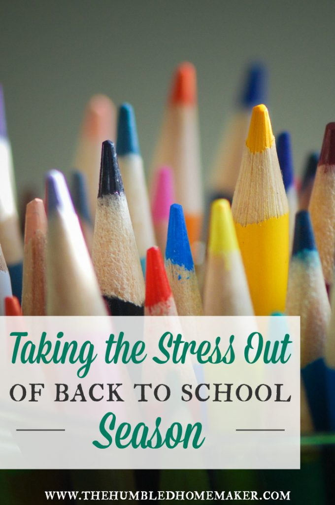 Back-to-school season doesn't have to be overwhelming! Check out these steps for taking the stress out of back-to-school season!