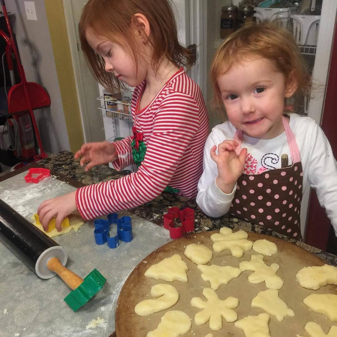 baking christmas cookies: stress free holidays tips-focus on simple things like this