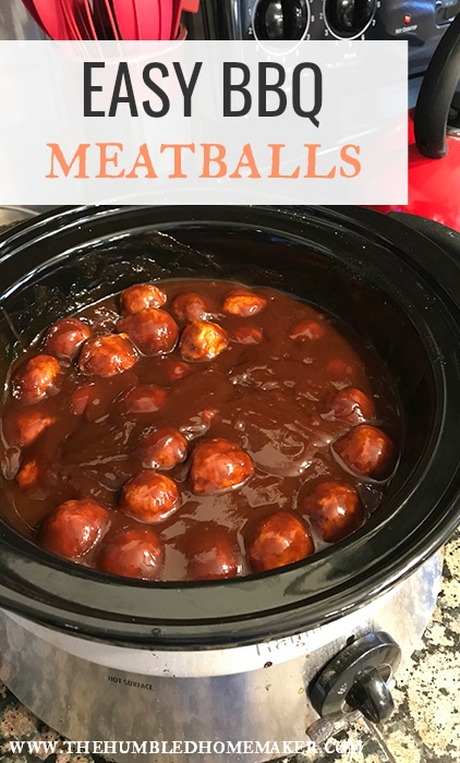 You're going to be able to whip up this easy barbecue meatball recipe in no time. Whether it's for a party, an easy weeknight dinner for your family, or to celebrate National Meatball Day, you'll want to add these meatballs to your recipe rotation!#EasyAppetizer #BBQ Meatballs