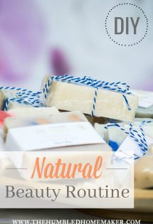 This post has lots of tips and recipes for creating a natural beauty routine! Lots of good DIY skincare projects to try. Your skin is the largest organ in your body--it's important to be careful about what you put on it!