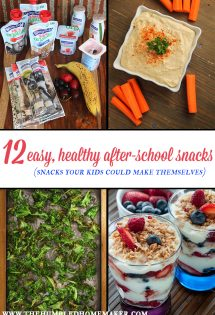 Their tummies start rumbling the second the last bell rings. Fill them up with these healthy after-school snacks. They're so easy, the kids can make them!