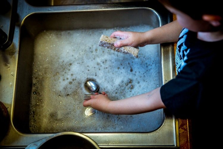 Have your kids help you with cleaning chores. Everyone should be involved!
