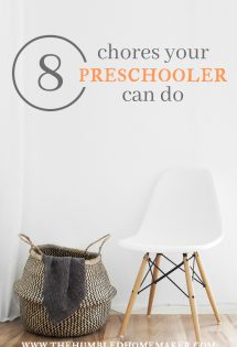 8 Chores Your Preschooler Can Do