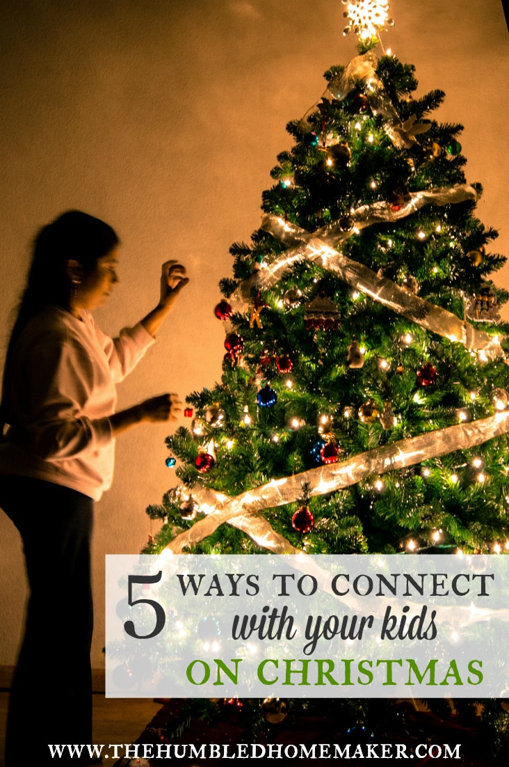 In the hustle and bustle of the holidays, I fear we can too easily fail to focus on what matters most--the celebration of Christ's birth and time with our family. I believe you can connect with your kids at Christmas (and I can too!). Today's post gives 5 ways to intentionally make memories with your family this season. I hope you'll enjoy it--and share some of your own in the comments!