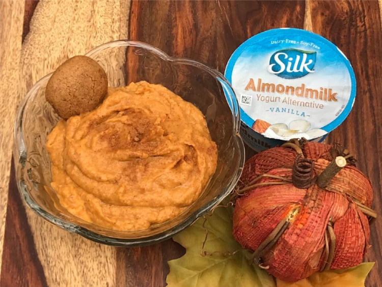 dairy-free pumpkin dip with silk