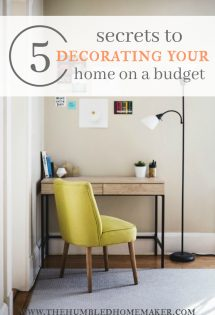 5 Secrets to Decorating Your Home on a Budget