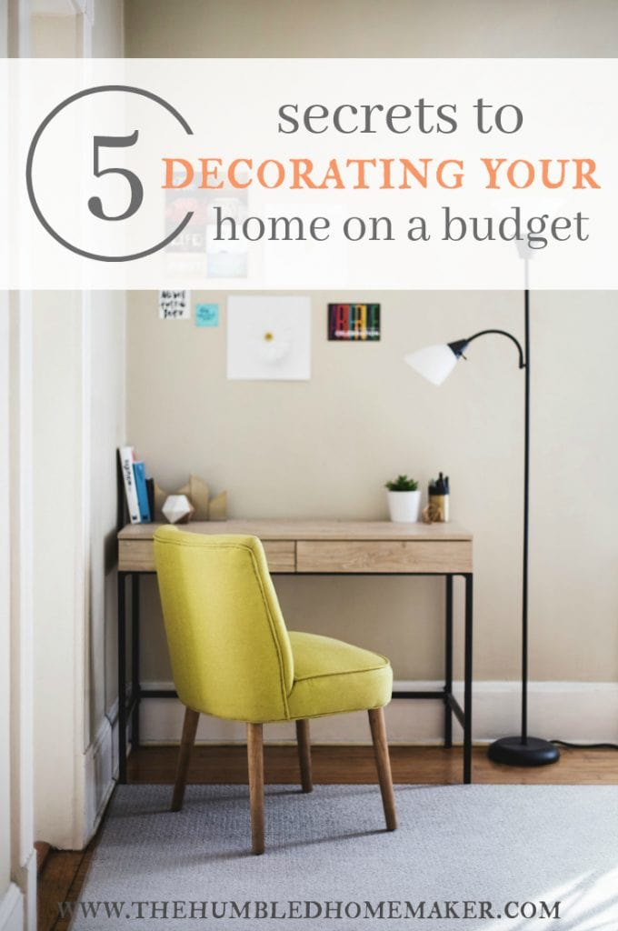 5 secrets to decorating your home on a frugal budget. Black Bedroom Furniture Sets. Home Design Ideas