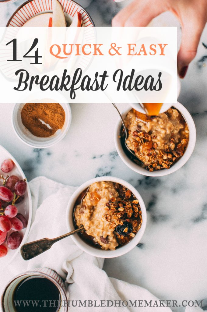 Healthy, easy breakfast ideas that are a much better option than sugary cereal! These will streamline your busy morning and fuel your family up for the day!