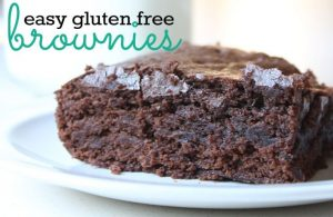 This gluten free brownie recipe is so easy, frugal and never fails. The ingredients are all staples and it takes just a couple minutes to whip them up.