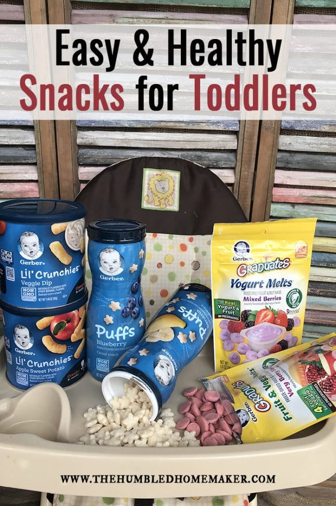 If you're looking for easy and healthy snacks for toddlers, then you'll love these ideas!