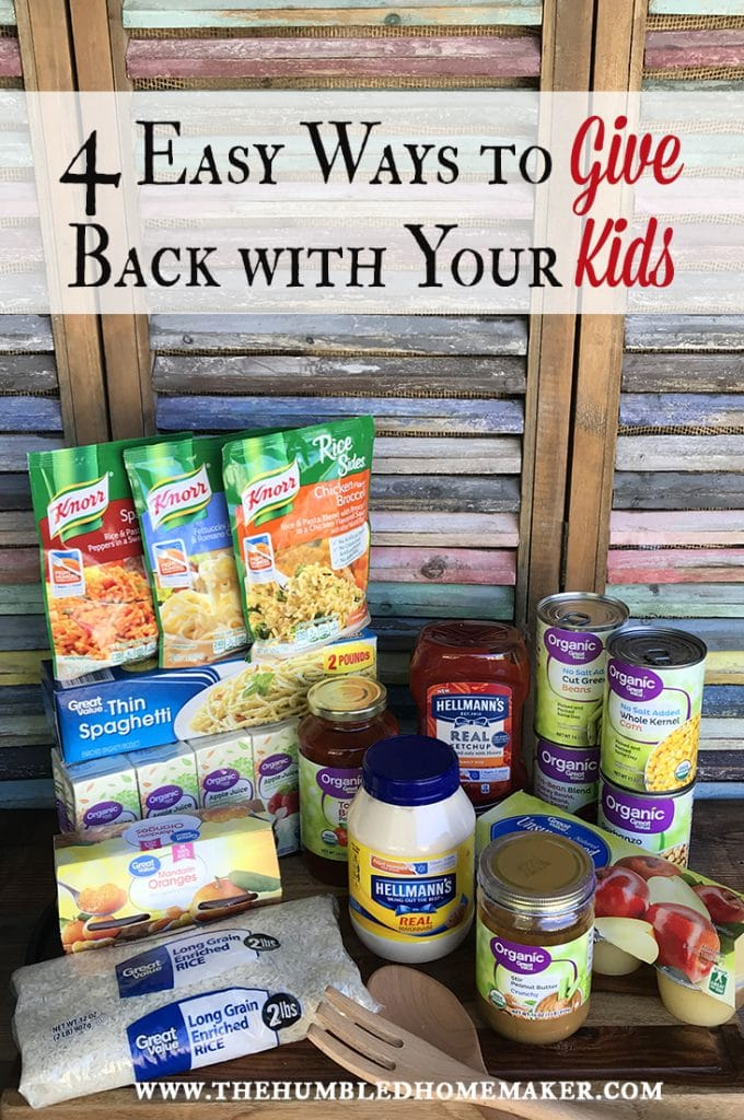 easy ways to give back to your community with your kids