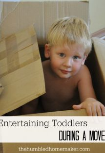 entertaining toddlers during a move