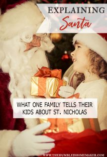 Explaining Santa Clause and telling your kids about him can be tricky and how to handle it is a decision that each family must make for themselves.