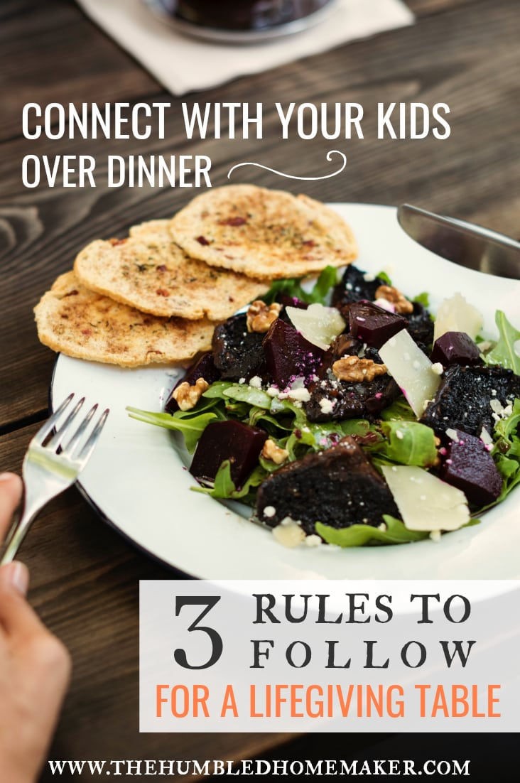 """Is is truly possible to connect with your kids over dinner? I believe the answer to that is a resounding """"yes""""!"""