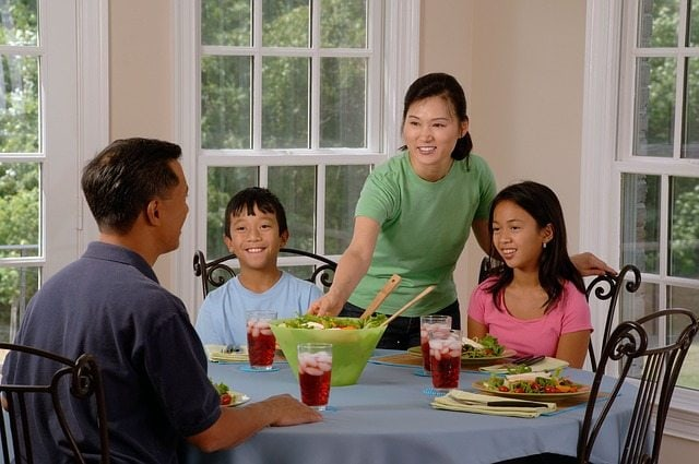 Connecting with your kids over dinner and a life-giving table