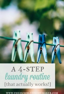 A 4-Step Laundry Routine That WORKS!