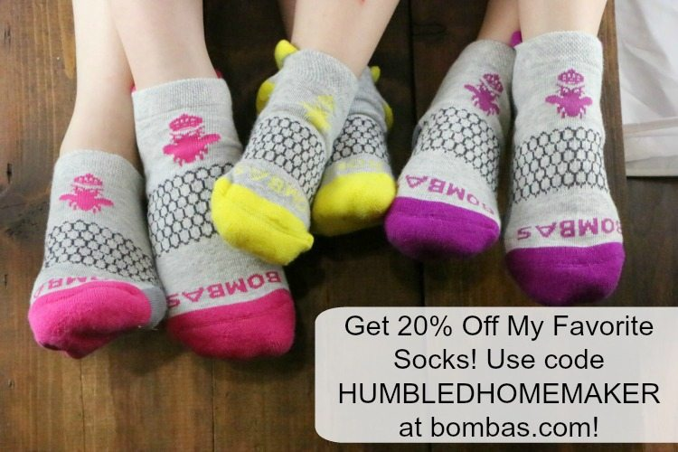 get 20% off Bombas socks
