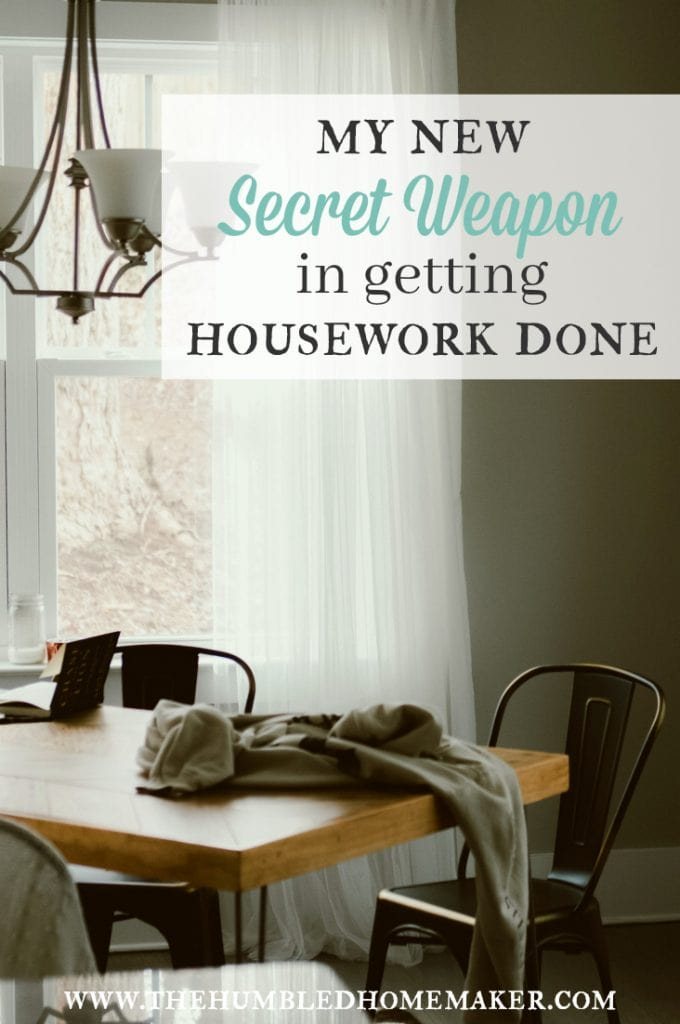 I found a secret weapon in getting housework done, and I can't wait to share it with you!