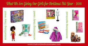 What We Are Giving Our Girls for Christmas This Year {2016 edition}