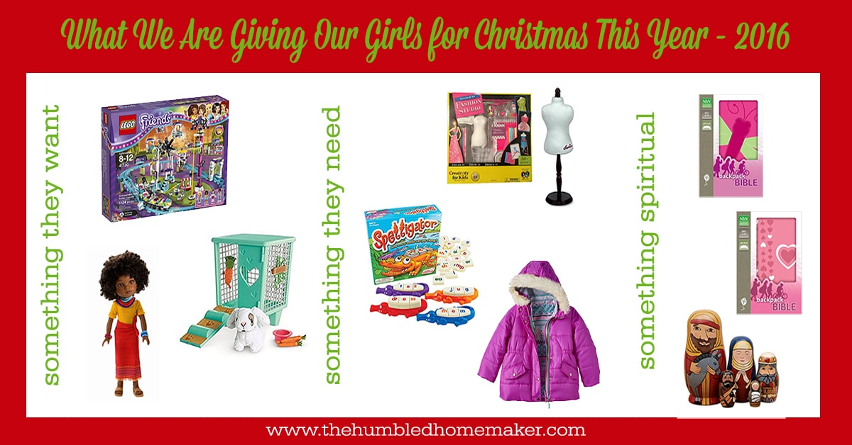 gifts we are giving our girls for christmas this year 2016 edition