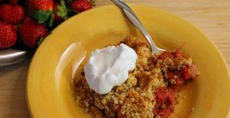 gluten free sugar free strawberry cobbler