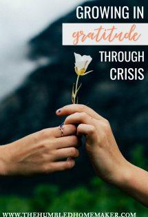 Growing in Gratitude Through Crisis