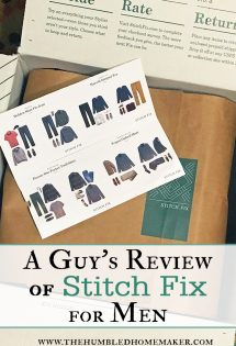 Ready for a guy's review of Stitch Fix for Men? There are thousands of posts on the internet about women using Stitch Fix, but what about a men's take on Stitch Fix for Men. Read on, and discover if this might be a viable option for helping your husband build a new wardrobe--with style! #StitchFix #MensFashion #WardrobeForMen