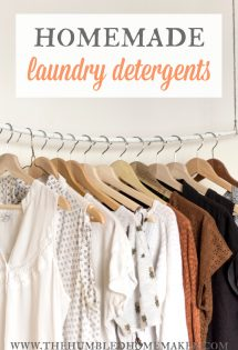 Here are 5 unique homemade laundry detergent recipes—including both liquid and powder recipes and cloth-diaper safe! Now you can detox your laundry routine AND save money!