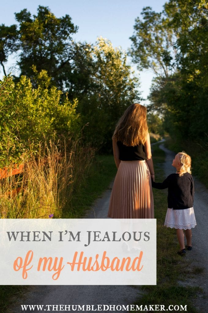 Choose joy instead of jealousy in your marriage and your role as a mother. This post is about being jealous of your husband—and how you can overcome it!