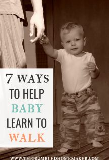 Want to help baby learn to walk? Every child will take his or her first steps at their own pace, but there are things that you can do to help them along in this important milestone!
