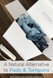 A Natural Alternative to Pads and Tampons