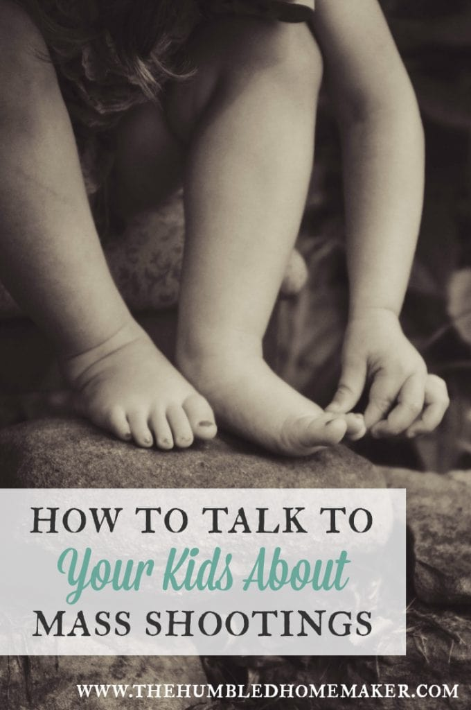 In today's world, we can't ask ourselves if we will talk to our kids about mass shootings. We must ask ourselves when--and how. In today's post, I'm tackling an issue that I sincerely wish I didn't have to--how to talk to your kids about mass shootings.