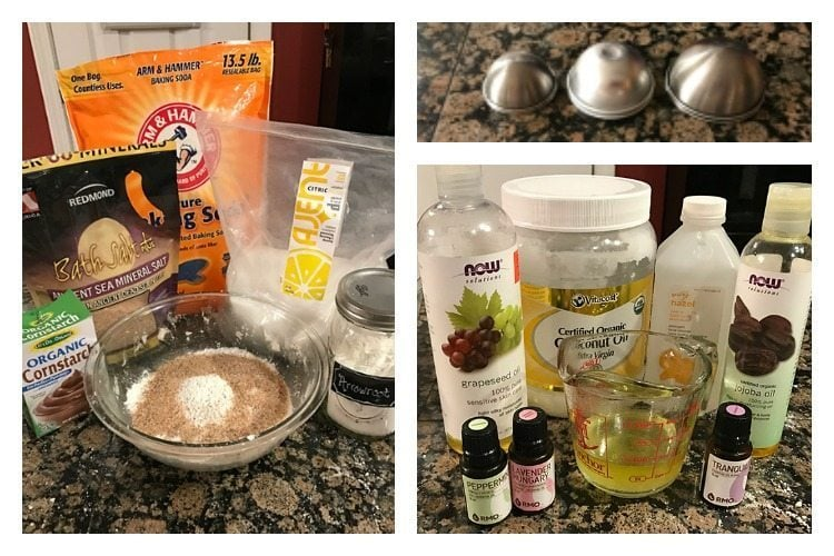 DIY natural bath bombs ingredients